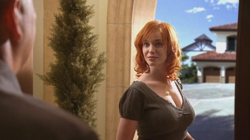 क्रिसटीना हेंड्रिक्स वॉलपेपर possibly with a bustier, tights, and a chemise called Christina Hendricks in Life - A Civil War - 1.07