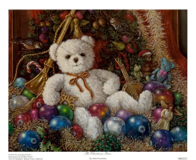 Christmas teddy ours
