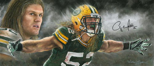 Green baya Packers wolpeyper entitled Clay Matthews