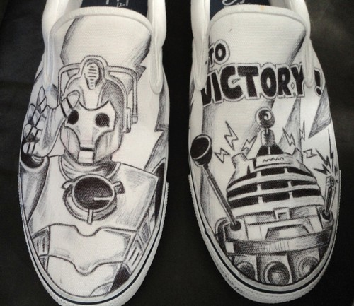 Dalek & Cybermen Shoes_Doctor Who Bad Robots