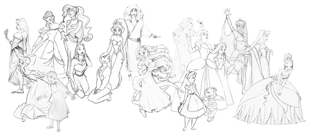 Disney Princesses And Non Princesses Concept Art Disney