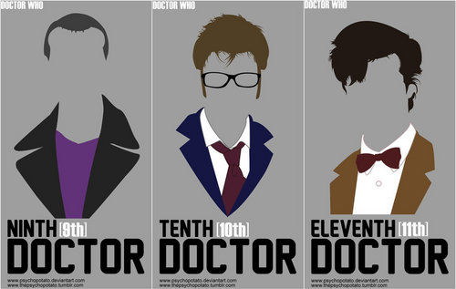 Doctor Who kertas dinding entitled Doctor who: 9th, 10th and 11th Doctor