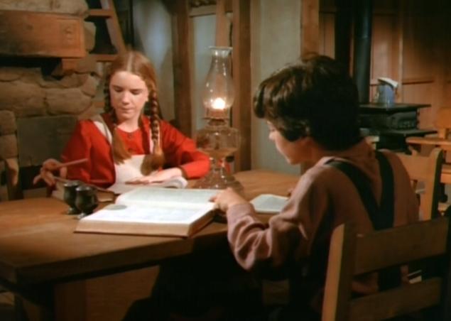 Doing homework - little-house-on-the-prairie Photo