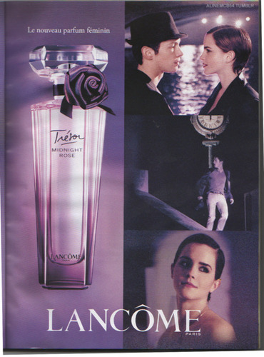 Emma on Lancome:Midnight Rose Poster
