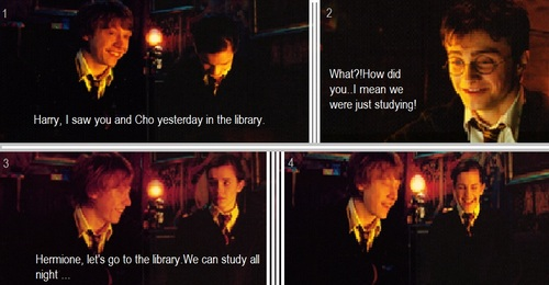 Funny-Ron and Hermione