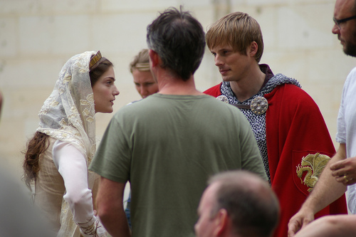 Great Shot - Discussing Scene - Arthur and Princess