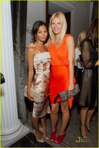 Gwyneth Paltrow: Coach avondeten, diner with Thandie Newton!