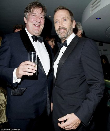 HUGH LAURIE- STEPHEN FRY- at the IVY Club 런던 06.09.2011
