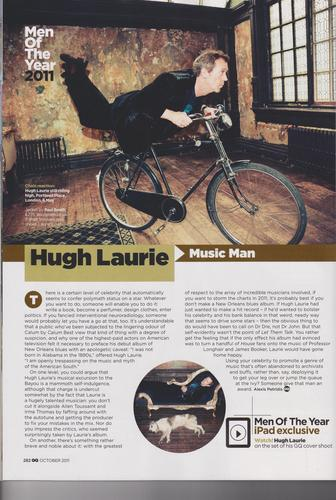 Hugh Laurie- GQ Magazine-October 2011 (SCAN)