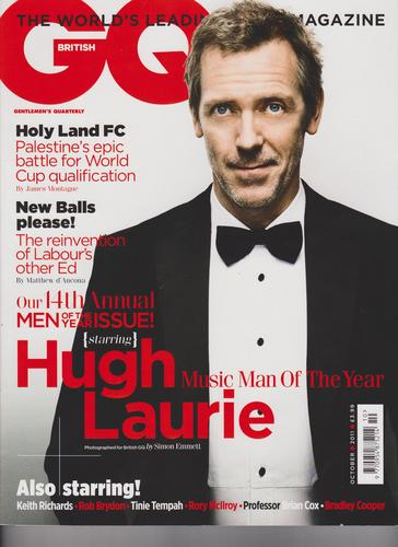 Hugh Laurie on the Cover of GQ UK Magazine October 2011