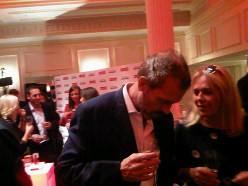 Hugh Laurie wallpaper with a business suit called  Hugh Laurie (Savoy Hotel) at the launch of L'Oreal Men Expert VitaLift 5.