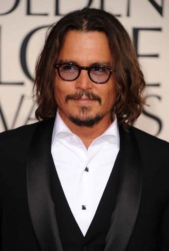Johnny Depp at golden globe awards 2011