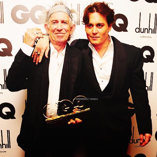 Johnny Depp & keith richards GQ Men of the an Stud