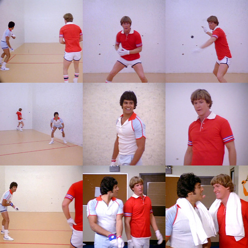 Jon & Ponch playing handball