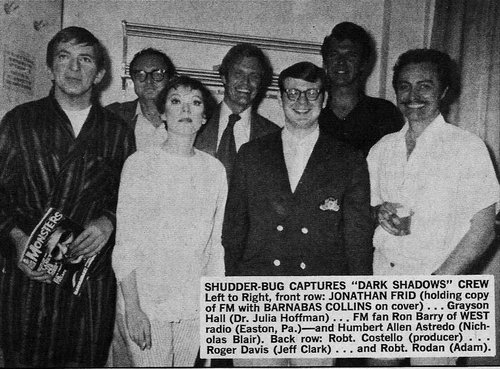 Dark Shadows wallpaper possibly containing a bandsman titled Jonathan Frid, Grayson Hall, Roger Davis, Robert Rodan, Humbert Allen Astredo