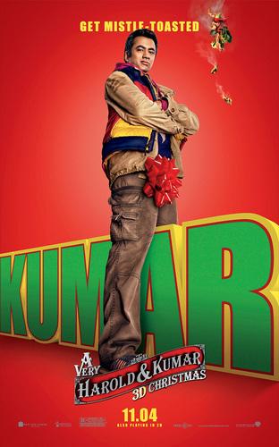 Kal Penn as Kumar in a Promotional Poster for 'A Very Harold & Kumar Christmas'