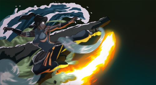 Avatar: The Legend of Korra wallpaper containing a fire entitled Korra