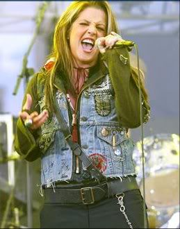 lisa marie presley wallpaper probably containing an outerwear, an overgarment, and long trousers called LMP
