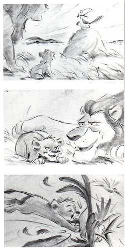 Lion King Story board