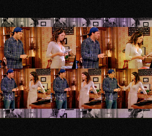 Gilmore Girls wallpaper probably with anime entitled Luke and Lorelai ♥