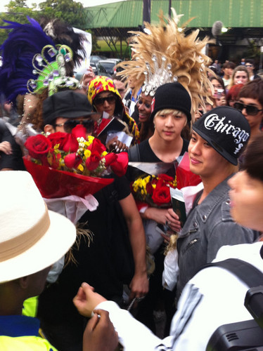 MBLAQ wallpaper with a bouquet called MBLAQ in Brazil