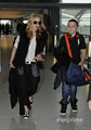 Madonna and Family arrive at Heathrow Airport in London, Sep 4