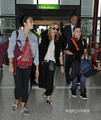 마돈나 and Family arrive at Heathrow Airport in London, Sep 4