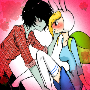 Adventure Time karatasi la kupamba ukuta with anime titled Marshall lee and Fiona