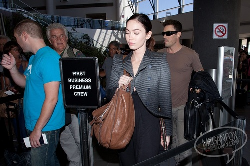 Megan - Departs from LAX Airport - September 08, 2011