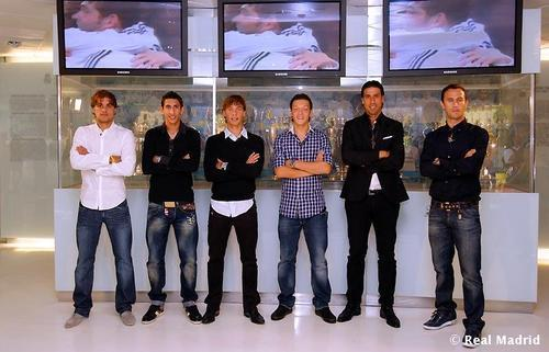 Mesut and others Real Madrid players
