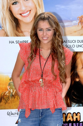 Miley Cyrus ~ Photocall For Hannah Montana:The Movie In Rome,Italy