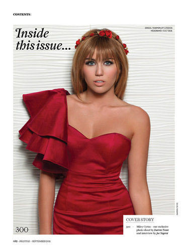 Miley Cyrus Prestige Magazine Photoshoot