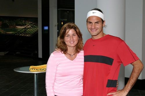 Mirka and Roger Federer 2004
