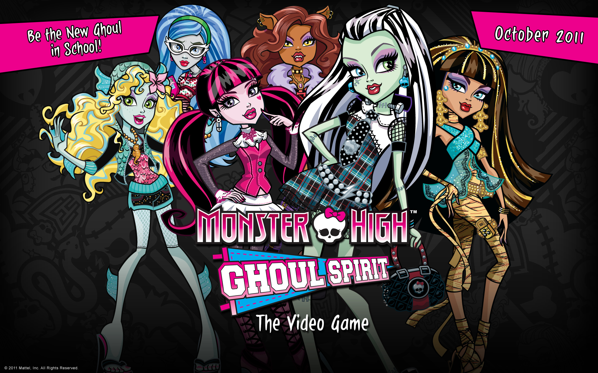 Monster High Monster High Ghoul Spirit Video Game Wallpaper 1