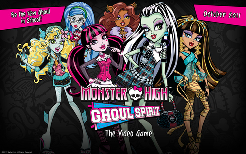Monster High Ghoul Spirit Video Game Обои 1