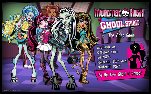 モンスター・ハイ 壁紙 with アニメ entitled Monster High Ghoul Spirit Video Game 壁紙 2