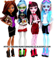 Monster High mga manika with new clothes