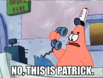 Patrick 星, つ星 ;)