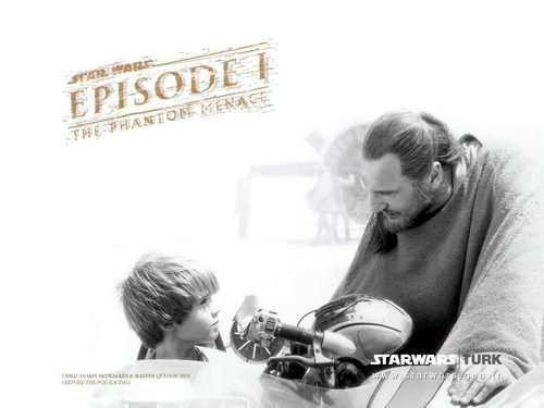 Qui Gon Jinn and Anakin (Episode I)