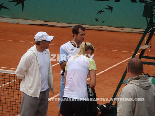 Radek Stepanek and Maria Sharapova