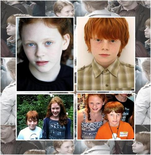 romione wallpaper possibly with a portrait called Rose & Hugo Weasley