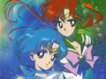 Sailor Mercury and Sailor Jupiter - sailor-moon wallpaper