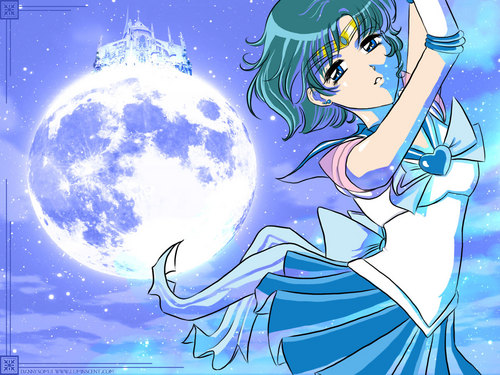 Sailor Moon wallpaper containing anime called Sailor Mercury