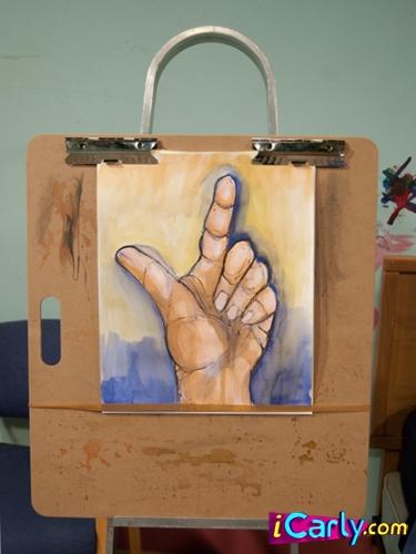 Sam's finger painting