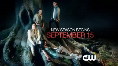 Damon Salvatore wallpaper possibly with a pacific sardine, a sign, and a sunset called Season 3 promo