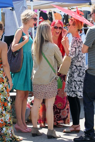 Sept 4th- Dianna at California's Fairfax Flea Market
