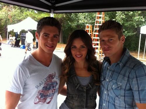 Steven, Kayla and Zach BTS