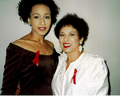 Tamara & her mother Evelyn - tamara-tunie photo