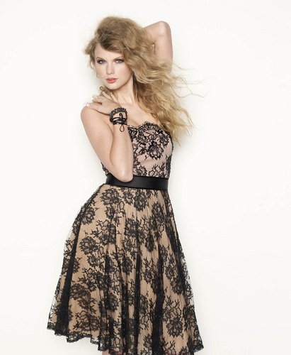 Taylor Swift wallpaper possibly with a cocktail dress called Taylor - Photoshoot 2010