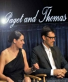 Tha Paley Center    Paget Brewster & Thomas Gibson - hotch-and-emily photo